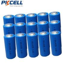 15 sztuk PKCELL ER14335 1650mah LiSOCL2 bateria 2/3AA LiSOCL2 baterie do kamery wideo sprzęt elektryczny bezprzewodowy