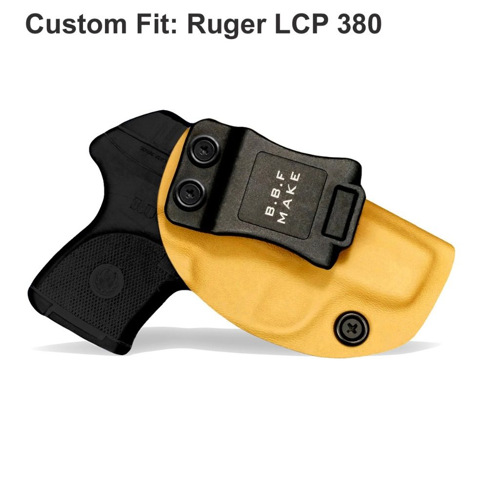 B B F Make IWB KYDEX Holster Custom Fits: Ruger LCP II Gun Case Inside  Concealed Carry Waistband Pistol Pouch With Belt Clip
