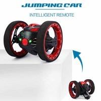 Mini Cars Bounce Car PEG SJ88 2 4GHz RC Car With Flexible Wheels Rotation LED Light