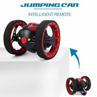 Mini Cars Bounce Car PEG SJ88 2 4GHz RC Car With Flexible Wheels Rotation LED Light