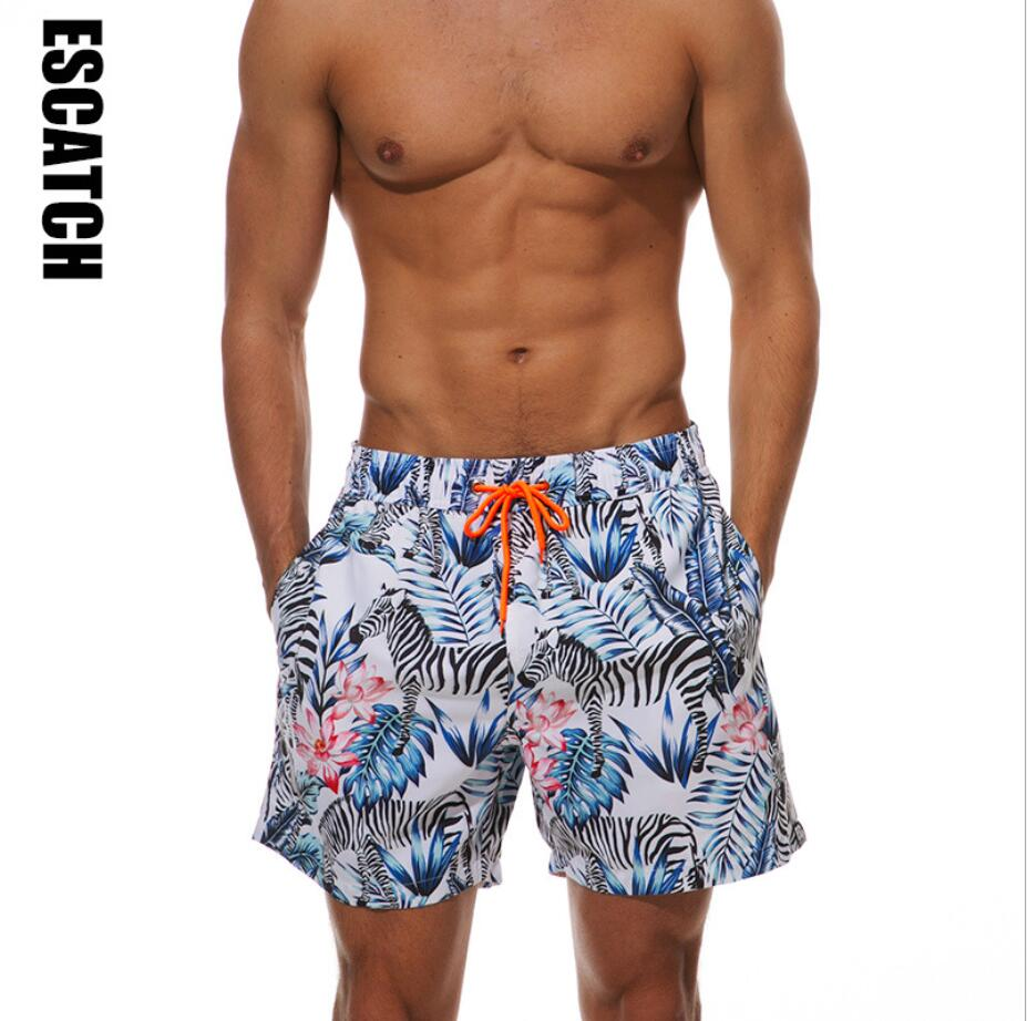 JERECY Mens Swim Trunks Funny Circus Tiger Stars Quick Dry Board Shorts with Drawstring and Pockets