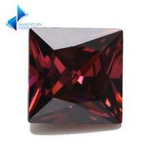 Размеры 3x3 ~ 10x10 родолит Цвет квадратный Форма 5a cz камень