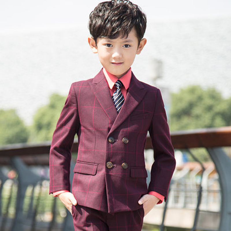 5pcs(Jackets+Vest+Pants+Shirts+tie)Boy Suits Flower girl Slim Fit Tuxedo Brand Fashion Bridegroon Dress Wedding Suits Blazer цены онлайн