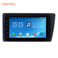 Harfey Android 6.0 Touchscreen 72 DIN GPS Radio Car Multimedia Player For Honda Civic 2001 2002 2003 2004 2005 with FM WIFI AUX