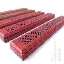 In legno di palissandro Vietnam tromba casella di incenso agarwood incenso bruciatore mogano hollow casella di incenso che si trova incenso casella di incenso