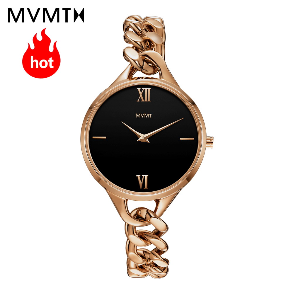 цена MVMT watch | Official flagship store Genuine vintage women's female watch waterproof quartz Bracelet Watch Rose gold steel watch