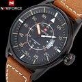 2017 naviforce novos relógios homens marca de luxo moda casual militar sports relógios 3atm impermeável relógio de quartzo analógico couro