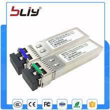 Envío gratis 1 par 10 Gb/s 10 km BIDI SFP módulo de Transceptor 10 10gbase SFP Plus Transceptor De Fibra Óptica