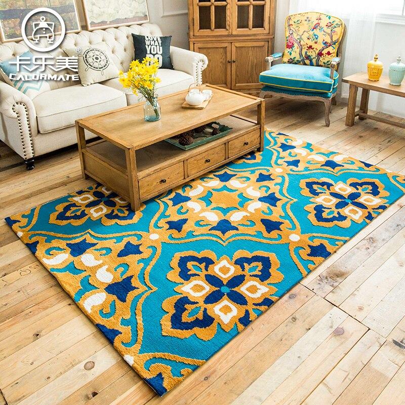 Mode bref vintage table basse maison canapé tapis moderne tapis de sol tapis