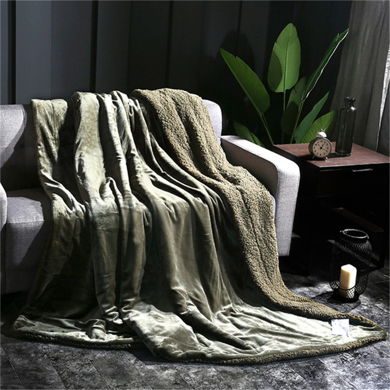 glossy Cashmere Blanket 150*200/200*230 Thick Blankets Double Coral Fleece Bed Sheet Sofa Throws Blanket Children Quilt Cobertor