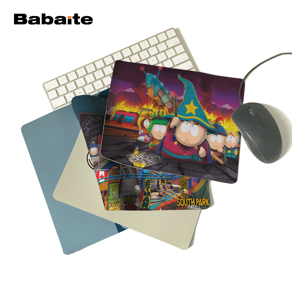 Babaite Cute South Park Funny Mat Free Shipping Mouse Pad Rubber Mat Two Sizes No Overlock Edge Mouse Pad rubber mouse pad mat black