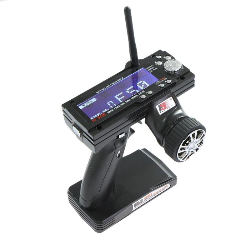 FS-GT3B 2.4G 3CH RC System Transmitter with Receiver for RC Car Boat with LCD Screen(No Batteries) fs gt3b 2 4g 3ch rc system transmitter with receiver for rc car boat with lcd screen no batteries