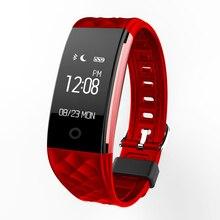 S2 Esporte Banda Inteligente Pulseira de pulso Monitor de Freqüência Cardíaca Pulseira Smartband IP67 À Prova D' Água Bluetooth Para iphone Android