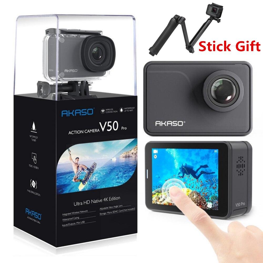 AKASO V50 PRO 4 k 30FPS Écran Tactile WIFI En Plein Air Extrèmes Sport Action Caméra Avec Els Ultra HD Étanche DV caméscope 20MP