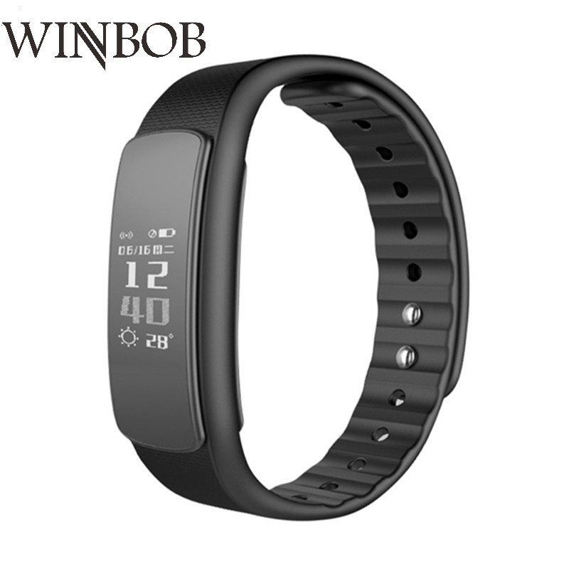 WINBOB I6HR Heart Rate Sleep Monitor Pedometer Fitness Tracker Sport Bluetooth Smart Wristband for HUAWEI for Iphone