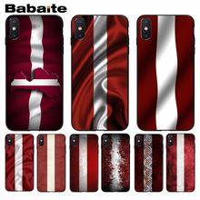Babaite флаг Латвии привлекательные аксессуары для телефона чехол для iphone 5 5s 5c SE 6 6s, 7, 7 plus, 8, 8 plus, чехол для телефона