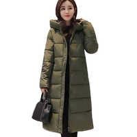 2019 High Quality Winter Jacket Women Hooded Warm Thicken Female Coat Long Parka 17 colors Winter Casaco Feminina Padded
