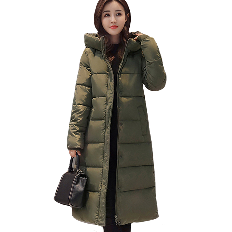 2019 High Quality Winter Jacket Women Hooded Warm Thicken Female Coat Long   Parka   17 colors Winter Casaco Feminina Padded