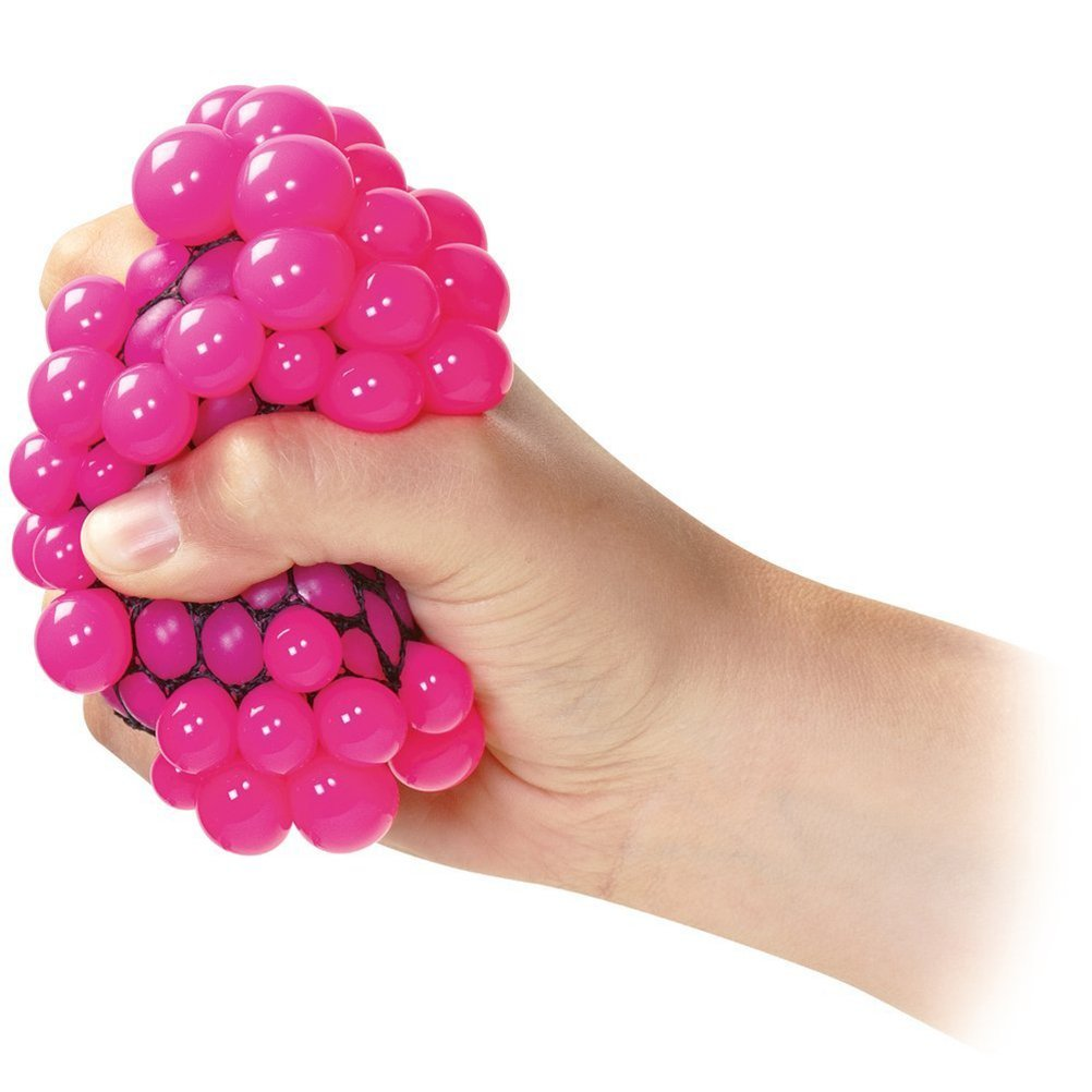 Squishy Mesh Balls Fidget Stress Toys Squishes Kids Fun Play Squeezy Gripper Ball (Random Color) flashing jumping ball outdoor fun sport toy bouncing balls for kids child sport movement ankle skip color rotating ball 5 color