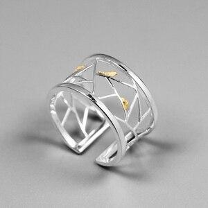INATURE 925 Sterling Silver minimalistyczny pierścionek śliczny ptak na oknie otwarte pierścienie dla kobiet biżuteria