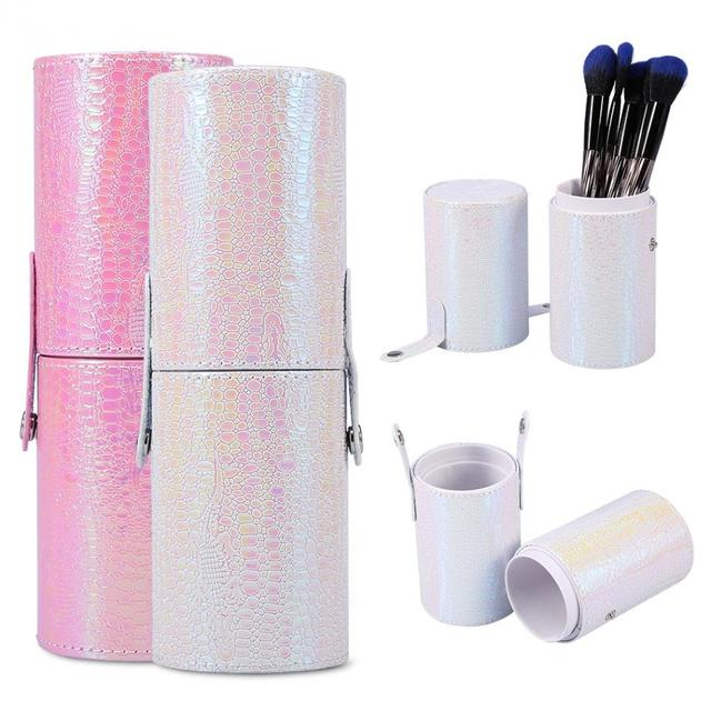 Makeup Brushes Cosmetics Brushes Portable Empty Holder Storage Case Portable Travel Nail Art Pen Cup Container Bag Make Up Brush