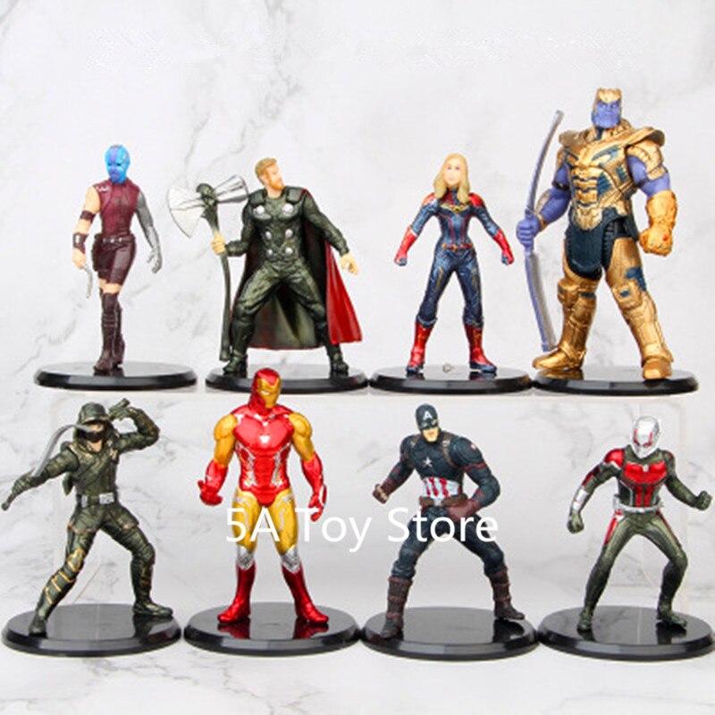 Set Marvel Avengers 4 Endgame 7 inch Thanos Iron Man Captain America Thor PVC