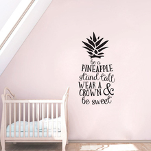 Nursery Quote Wall Art Creative Pineapple Sticker Removable Decal Children Bedroom Decoration AY1377