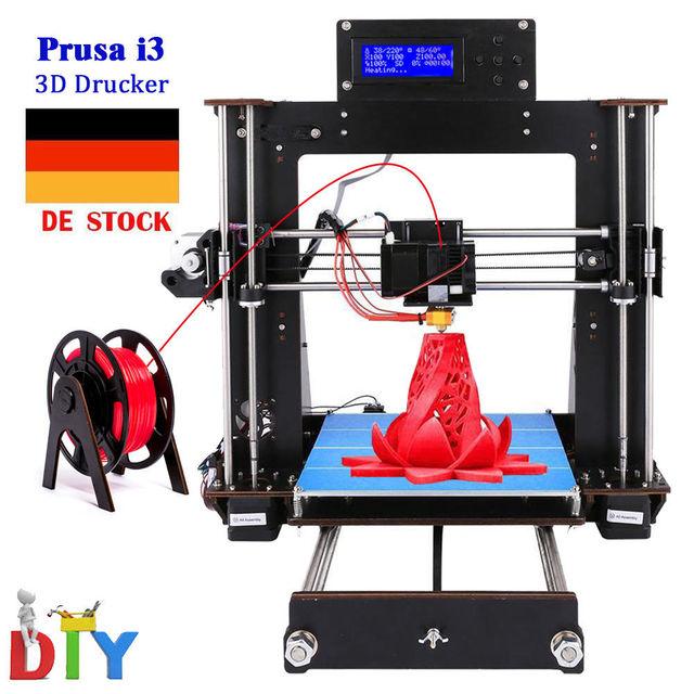 CTC stampante 3d Reprap Prusa i3 DIY kit black color Wood frame Power Failure Resume Printing High Precision 3d Printer