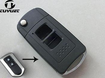 Brand New FOB samochodów klucz Case dla dla 2014 Toyota nowy Vios Highlander Yaris Verso zmodyfikowany składany zdalny klucz składany przypadku tanie i dobre opinie Urządzenie zabezpieczające przed kradzieżą dwukierunkowa Alert zabezpieczeń Alarm klucz formy Bez lcd pilot zdalnego sterowania