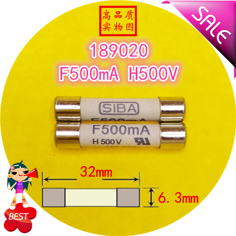 Fuse 189020 F 500mA H 500V 6.3x32mm ceramic fuse tube fuse-in Fuses from Home Improvement on AliExpress - 11.11_Double 11_Singles' Day 1