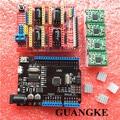 1 conjunto CNC Escudo Placa de Expansão para Arduino Impressora 3D + 4 x a4988 driver de motor de passo com dissipador de calor + micro usb uno r3