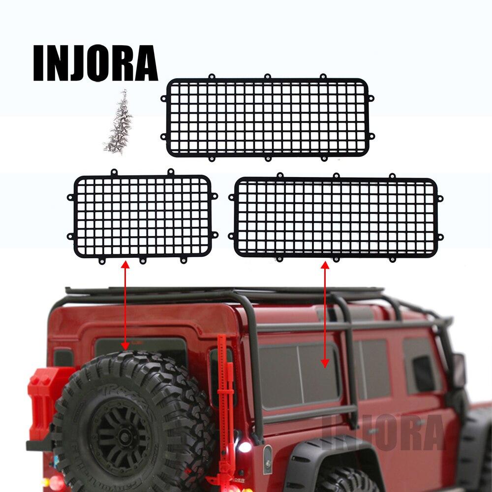 injora metal trx4 back side window mesh protective net for 1 10 rc crawler car traxxas trx 4. Black Bedroom Furniture Sets. Home Design Ideas