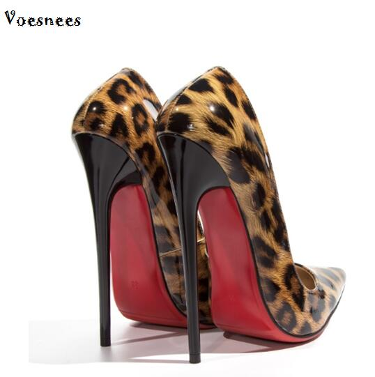 Woman Bridal Shoes Pumps 2017 New High-heeled 10-12cm Thin Heels Peep Toe patent Leather, Plus Size 34-44 Shoes for Ladies avvvxbw women pumps sexy patent leather thin heels high heeled shoes woman pointed toe pumps wedding shoes plus size 36 46