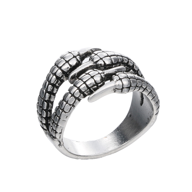 Stainless Steel Mens Biker Rings Vintage Gothic Jewelry Antique