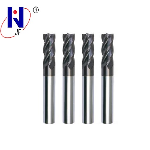 Купить с кэшбэком JF GES 5*13*5*50*4T   Solid carbide 4 flute flattened end mills with straight  shank milling cutter  HRC70  PT Coated