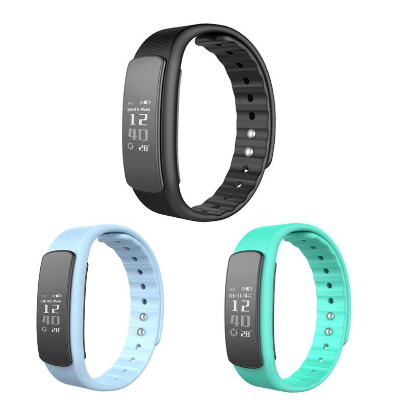 Smart Wristband 0.96inch Touch Screen IP67 Waterproof Bluetooth Smart Heart Rate Monitor Fitness Tracker Band for IOS Android