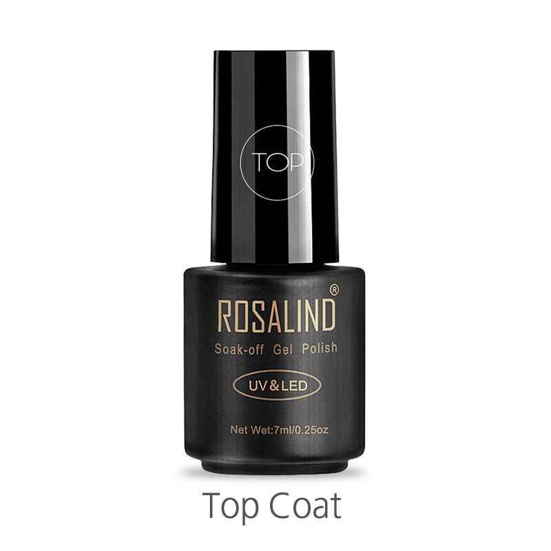ROSALIND capa superior 7ml Gel esmalte de uñas proteger uñas UV lámpara LED Semi Vernis permanente Nail Art esmalte de uñas en Gel eliminable en remojo polaco
