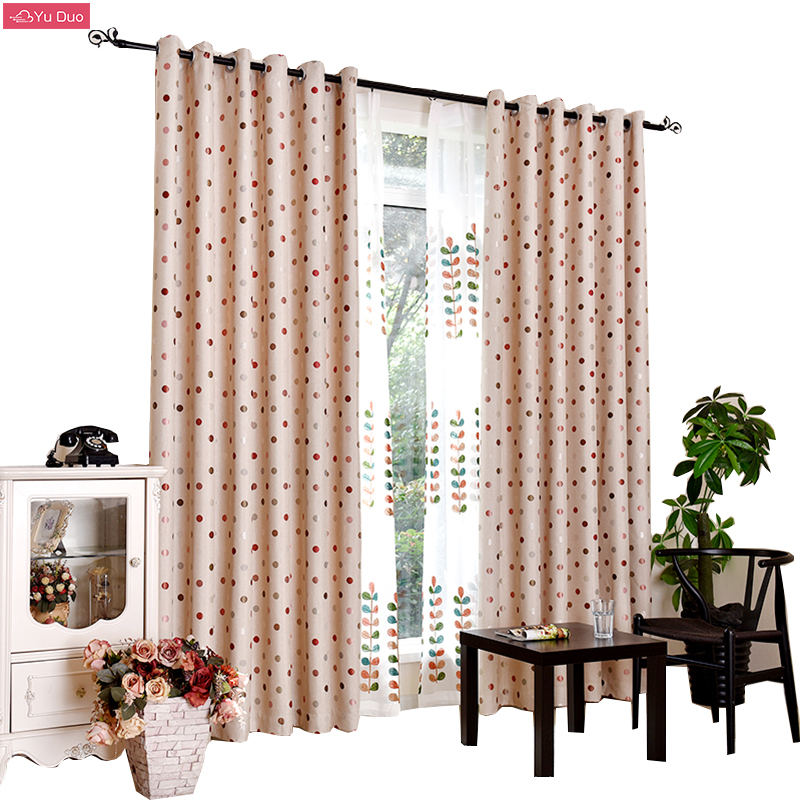 Yu Duo Dot Window Curtains For The Bedroom Fancy Curtains For Living Room  Kitchen Custom Made