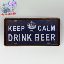 """""""Keep and calm and Drink Beer"""" bar / home decor metal sign"""