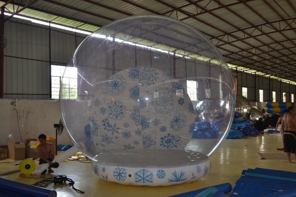 Customized Large Transparent Snowball For Chrismas 4m Hot Sale Decoration Inflatable PVC Balloons