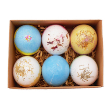 6 Pcs Deep Bath Salt Natural Bath Bombs Bubble Body Oil Moisturizing Bath Ball Bubble Bath Salt Ball Handmade SPA Stress 6 pcs lot mini wooden scoops for bath salts essential oil candy laundry detergent 3 bamboo bath salt spoon men women cosmetic