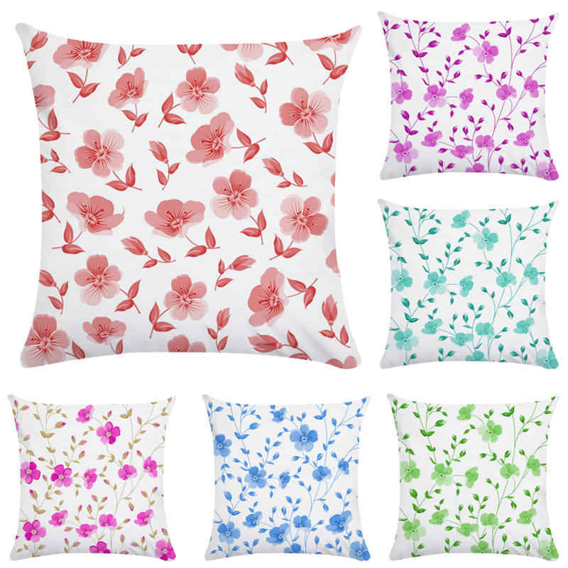 Super 45Cm 45Cm Bright Color Small Flower Bottom Design Super Soft Throw Pillow Covers Couch Cushion Cover Home Decorative Pillows Forskolin Free Trial Chair Design Images Forskolin Free Trialorg