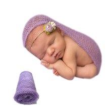 2018 Hot Sale Newborn Photography Props Cotton Recien Nacido Cloth Soft Baby Photography Props 40X60CM Art Mohair Wrap Beautiful