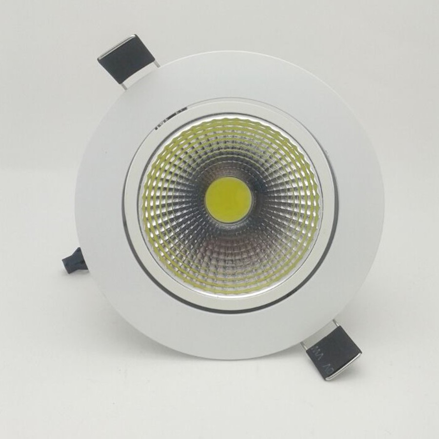 3W 5W 7W 12W COB Dimmable LED Downlight 85-265V Recessed LED Spot Light Ceiling Lamp Light For Indoor Lighting White Body