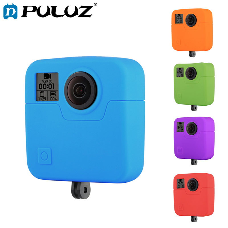 PULUZ Soft Cover Case For GoPro Fusion Silicone Cases For Go Pro Fusion Protective Case
