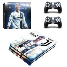 Juventus Cristiano Ronaldo PS4 Pro Skin Sticker Decal for Sony PlayStation 4 Console and 2 Controller PS4 Pro Skin Sticker Vinyl