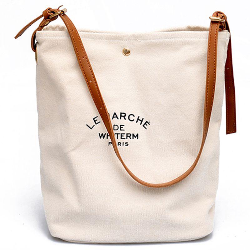 2020 Women Casual Handbags Shoulder Bags Environment Friendly Portable Letter Pattern Student Bags Shopping Bag