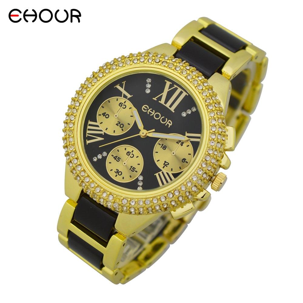 Nuevo 2015 Fashion Geneva Golden Metal Reloj de pulsera de cuarzo - Relojes para hombres - foto 1