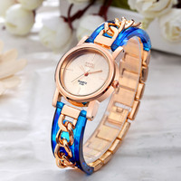 O T SEA Brand Rose Gold Bracelet Watches Women Ladies Dress Quartz Wristwatches Relogios Feminino 2125