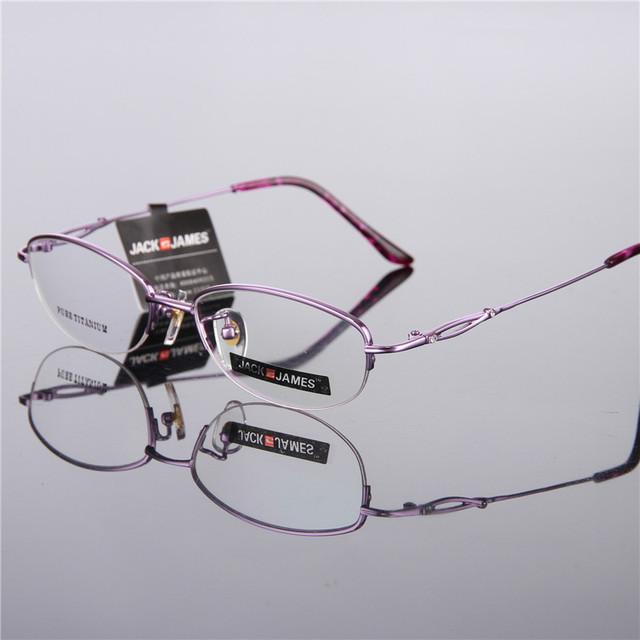 High-end da marca de óculos armações de óculos de olho para as mulheres ultra-leve moldura de espelho titanium quadros de óculos de prescrição 8302